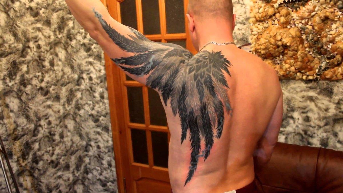 Крылья дракона тату фото