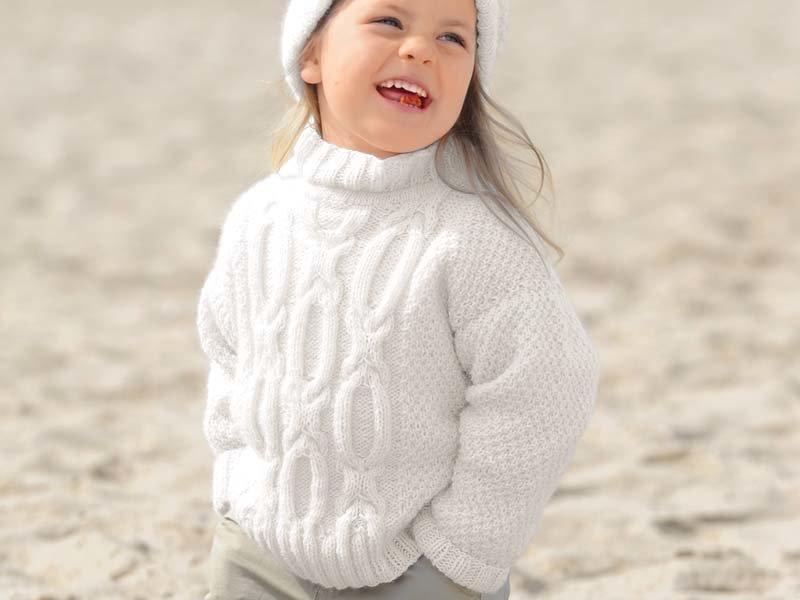 Вязание свитер на девочку