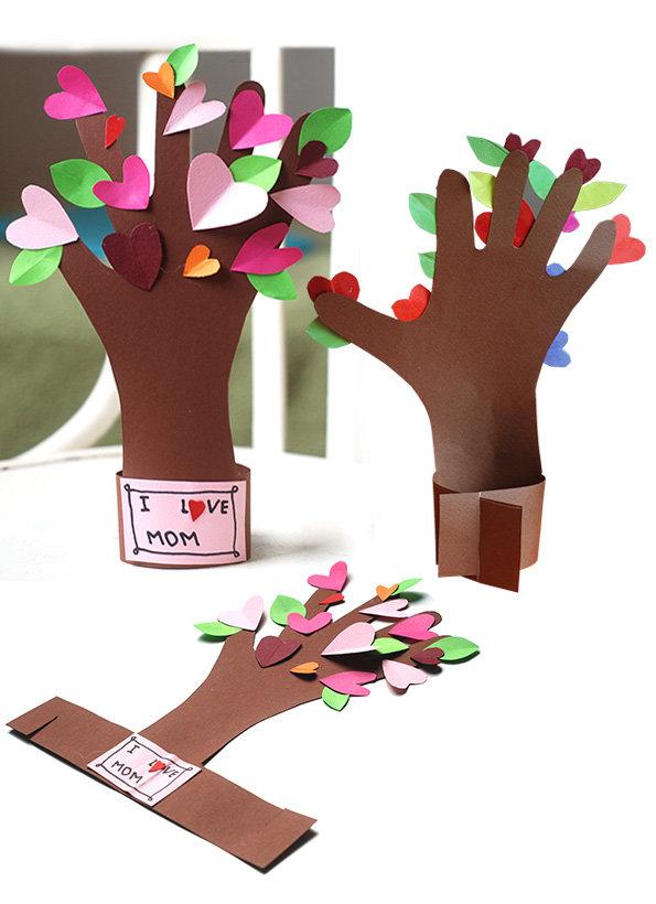 Дерево из ладошек своими руками 17