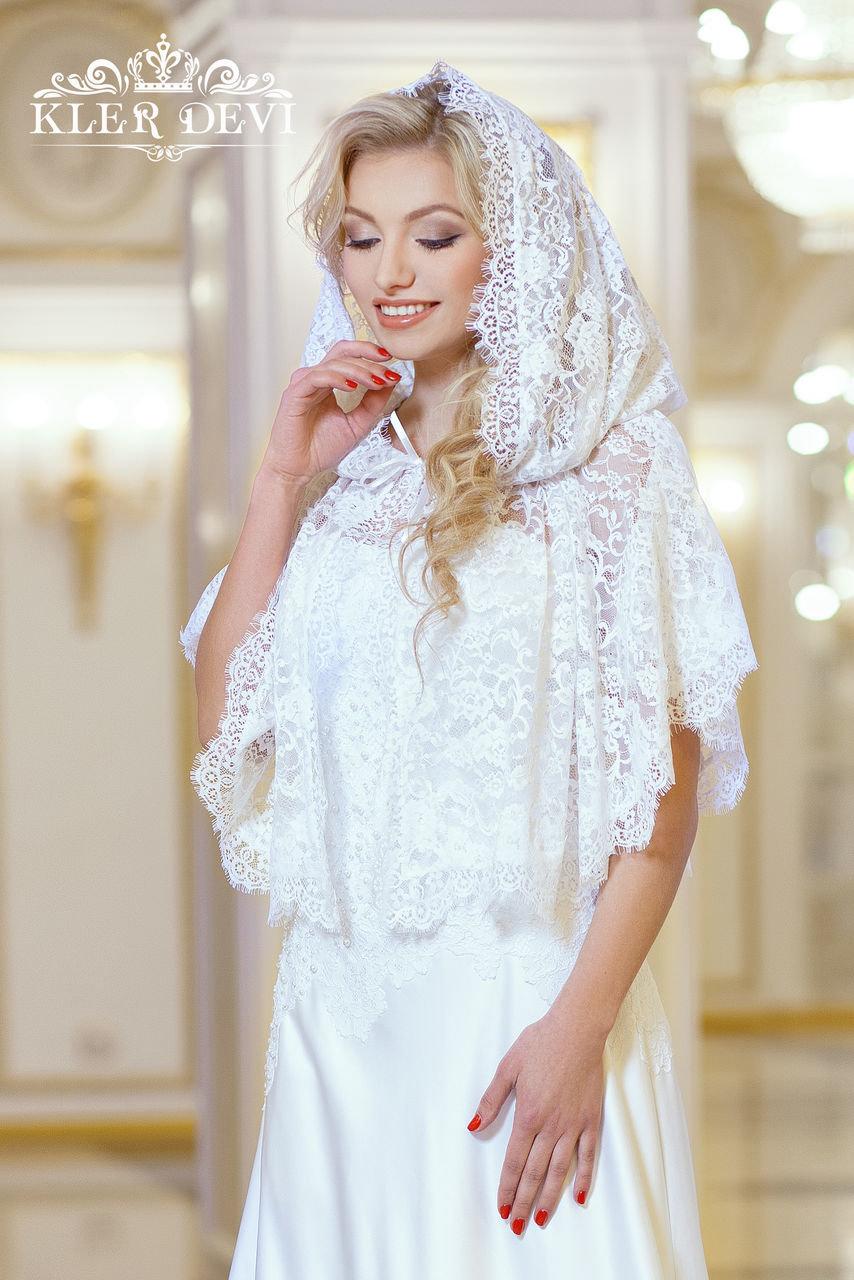 Накидка для венчания с капюшоном своими руками связать