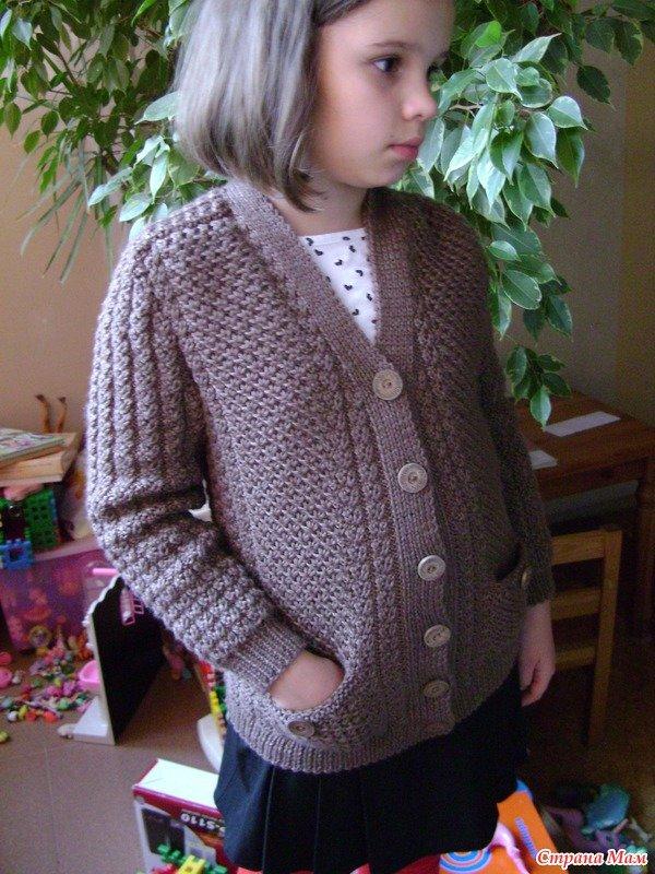 Вязание пиджака для девочки 26