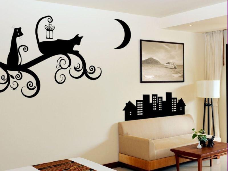 Рисунки своими руками на стену