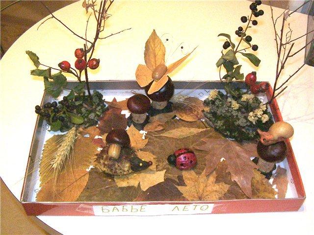 Осенние поделки для школы из природного материала