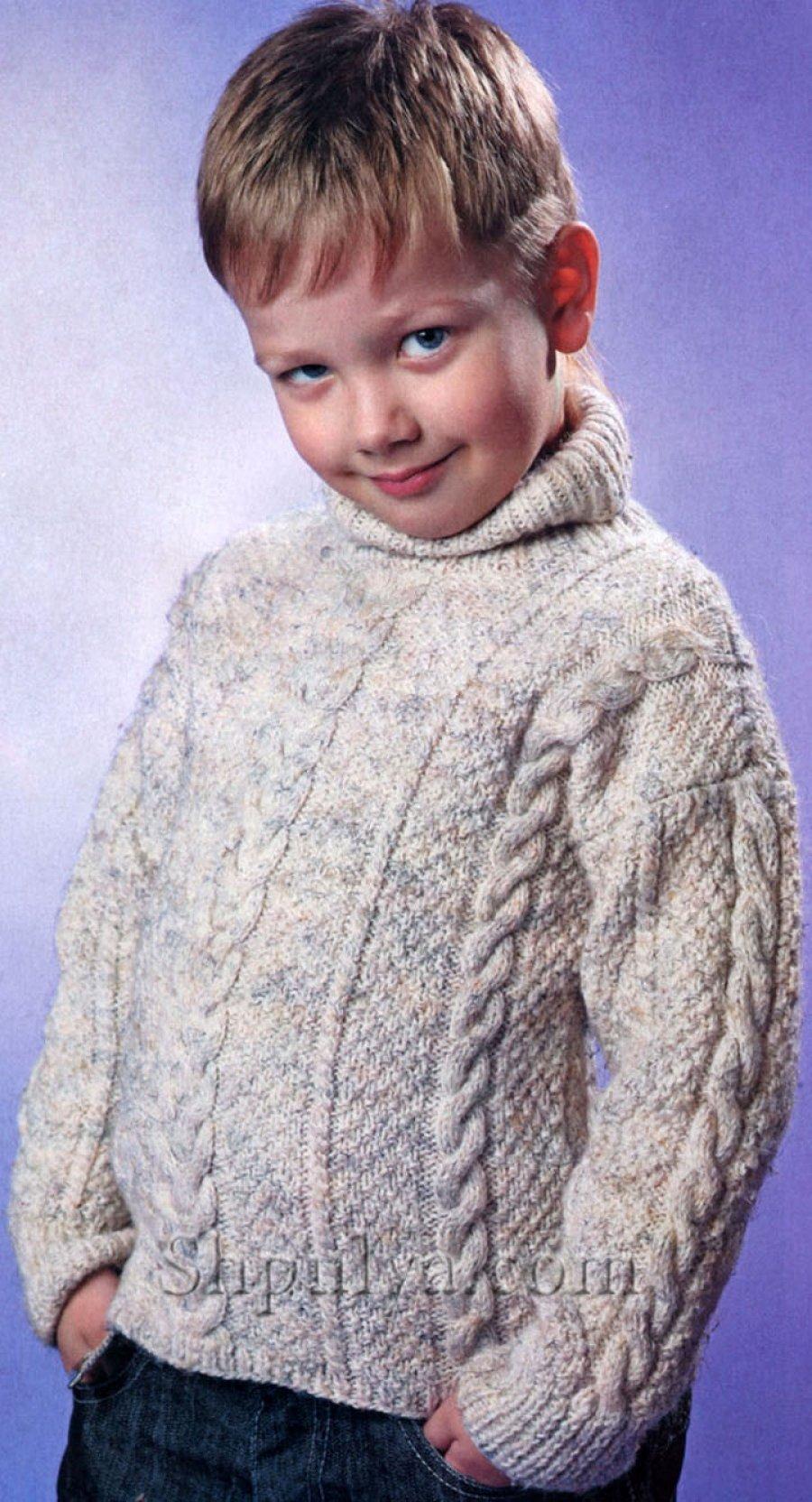 Вязание меланжевой пряжей для мальчиков