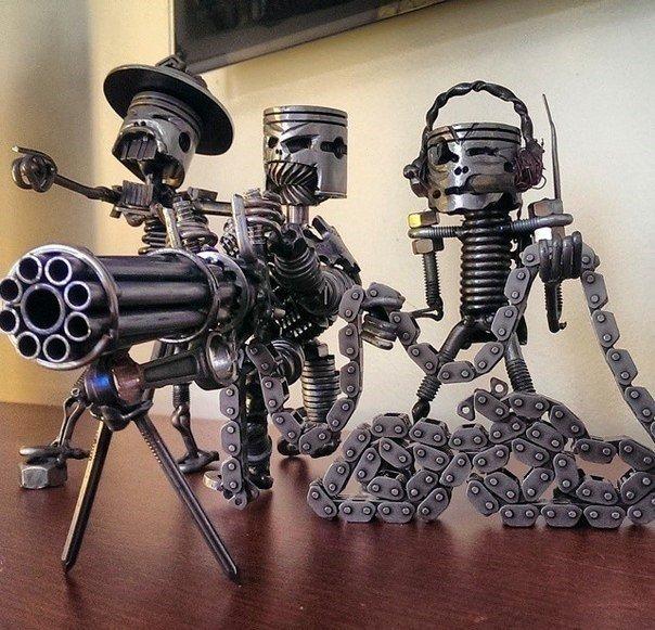 Роботы из запчастей своими руками
