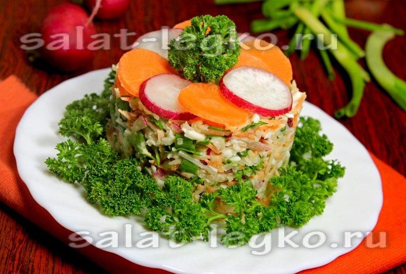 Салат с топинамбуром с