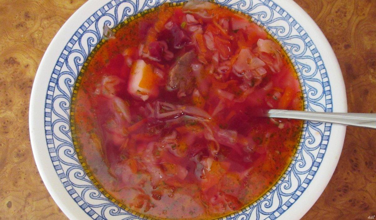 Борщ с помидором рецепт пошаговый