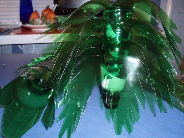 Пальма из пластиковых бутылок сделай сам своими руками как сделать
