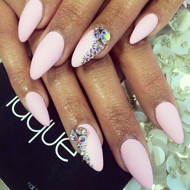 Нарощенные ногти форма ногтей