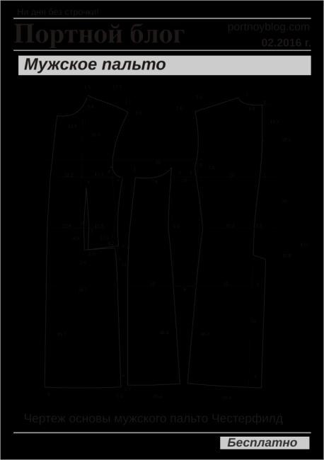 Выкройки для пальто мужское