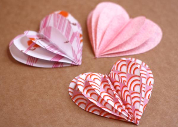 Сделать объёмное сердце из бумаги своими руками 29