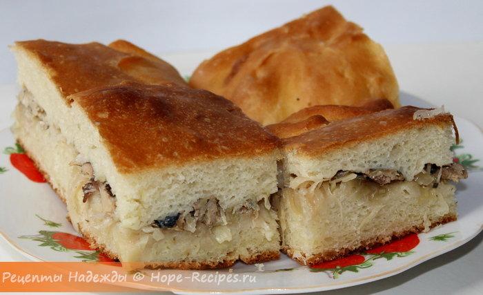 Рыбный пирог из сайры рецепт с быстро