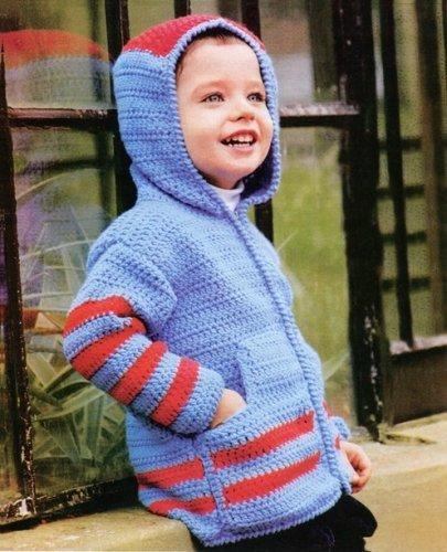Вязание крючком кофту мальчику