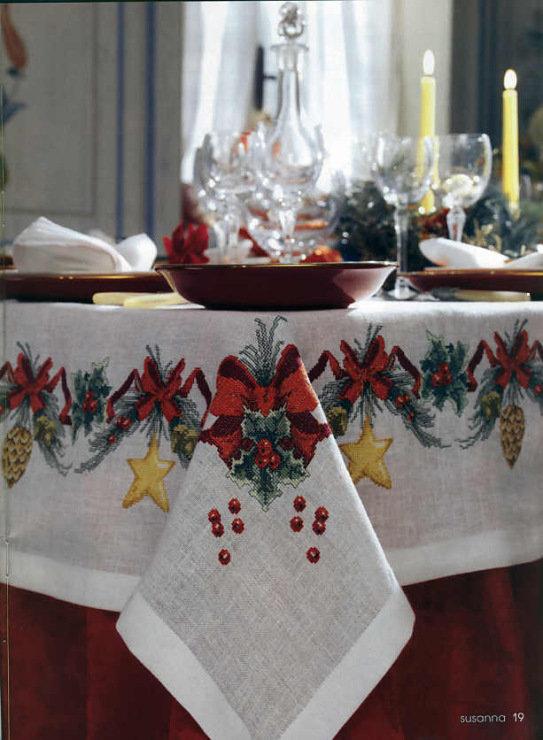 Как украсить скатерть на новый год своими руками