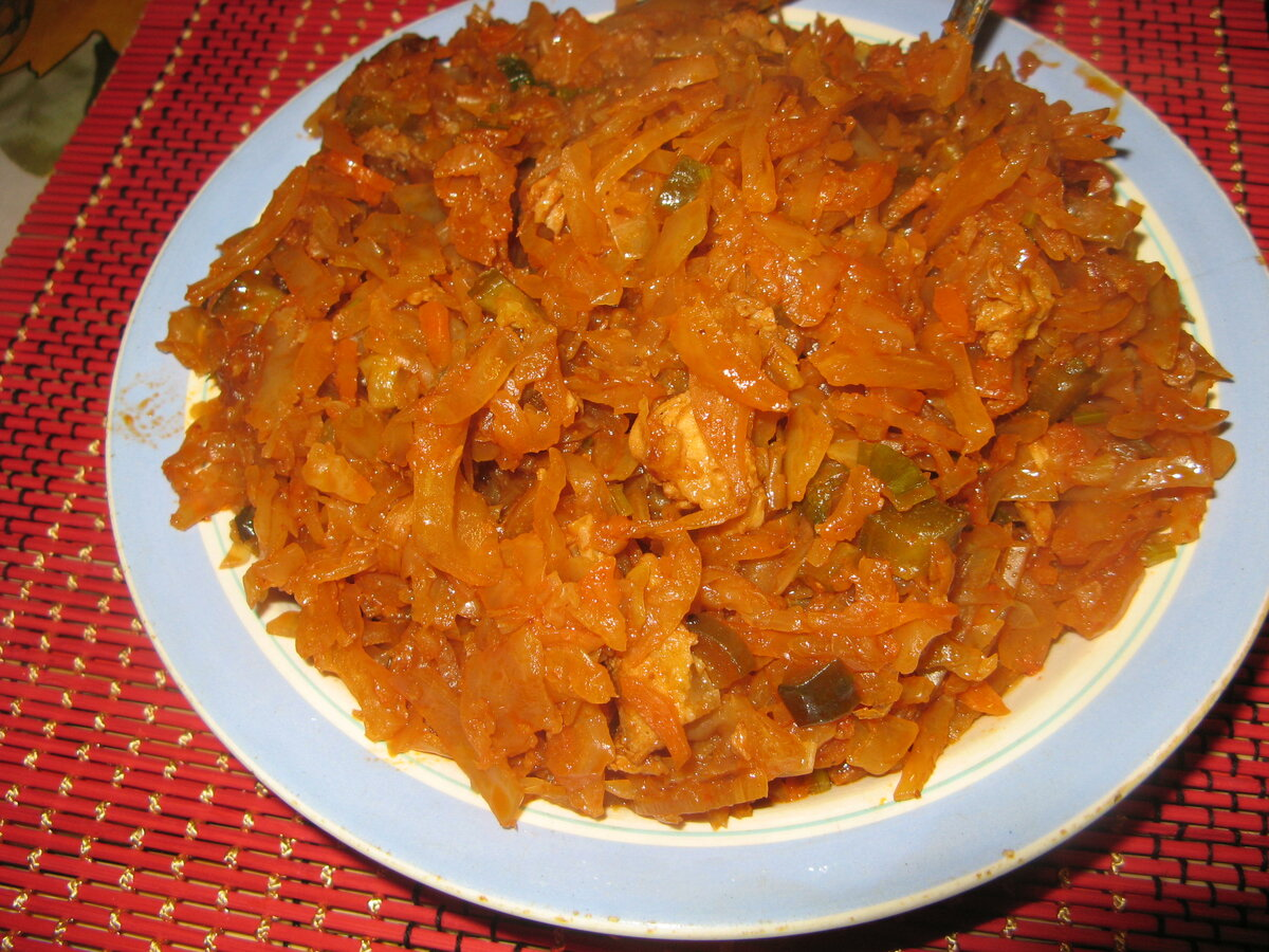 Рецепт солянки из капусты с мясом с пошагово