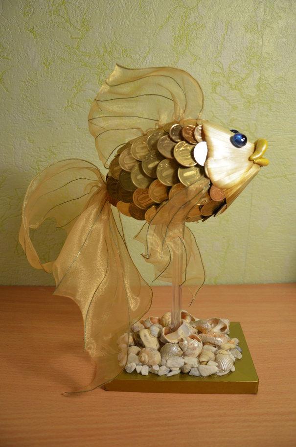 Золотая рыбка поделка своими руками
