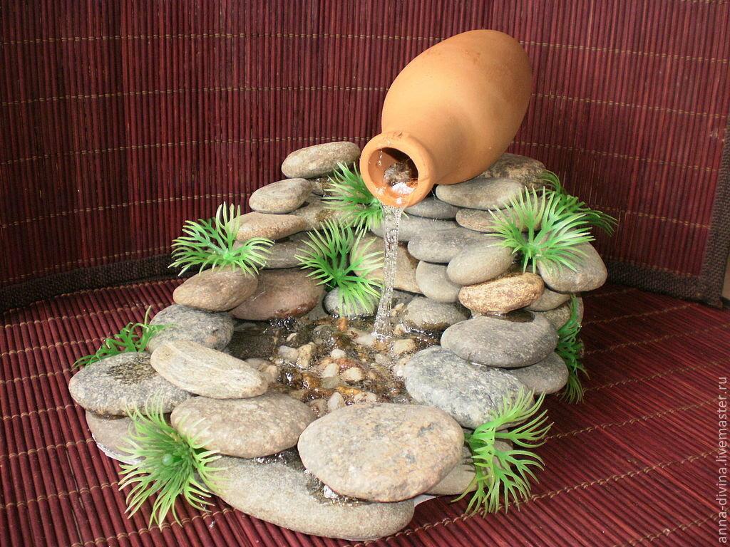 Декоративный водопад своими руками для дома 148