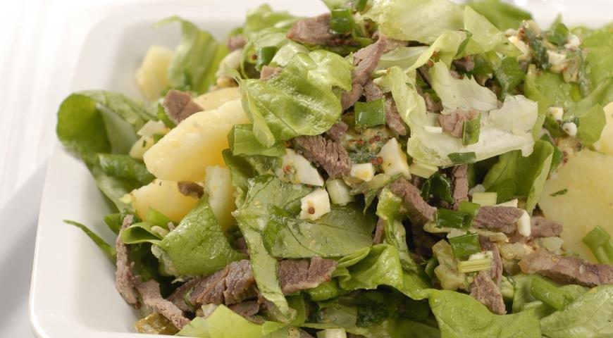 Красивые салаты с мясом рецепты