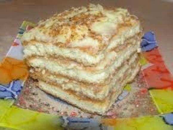 Бисквитный торт с кремомы фото