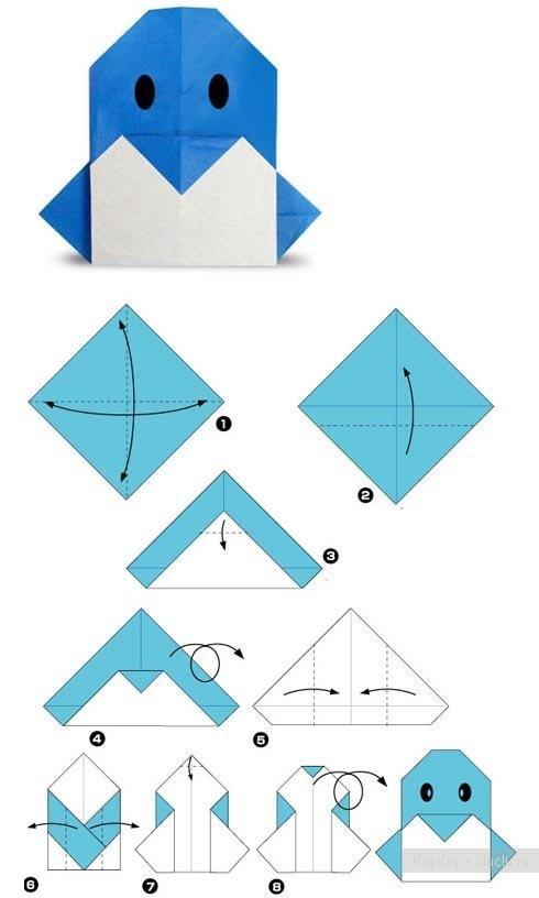 Оригами для начинающих только схемы