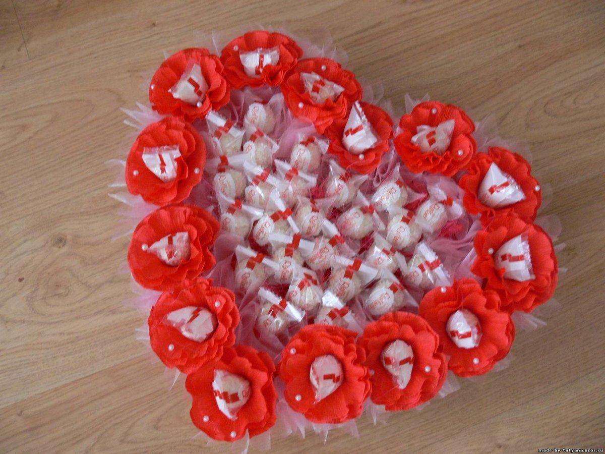 Подарки своими руками на 14 февраля из конфет своими руками