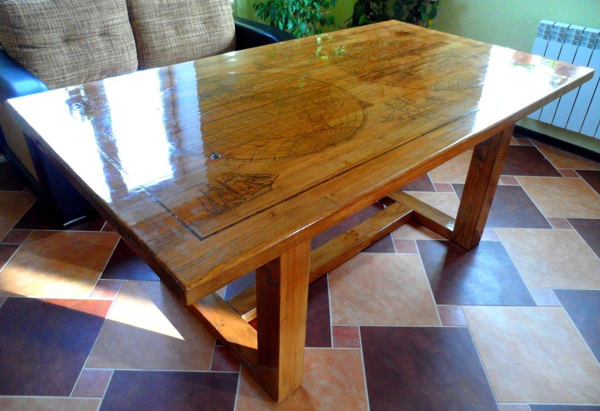 Большой стол своими руками с дерева 542