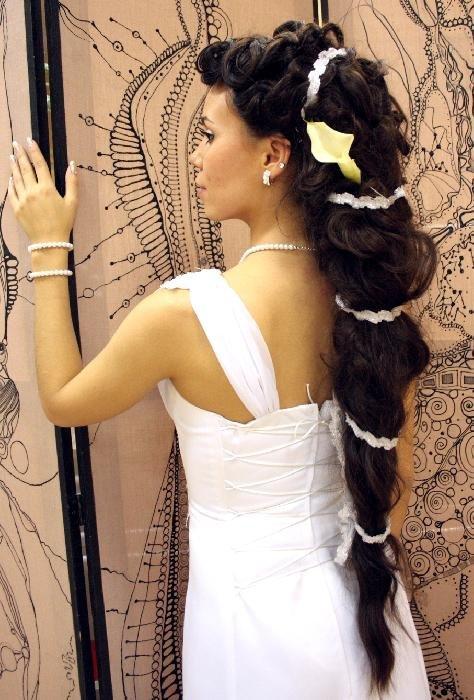Прически из длинных волос в греческом стиле