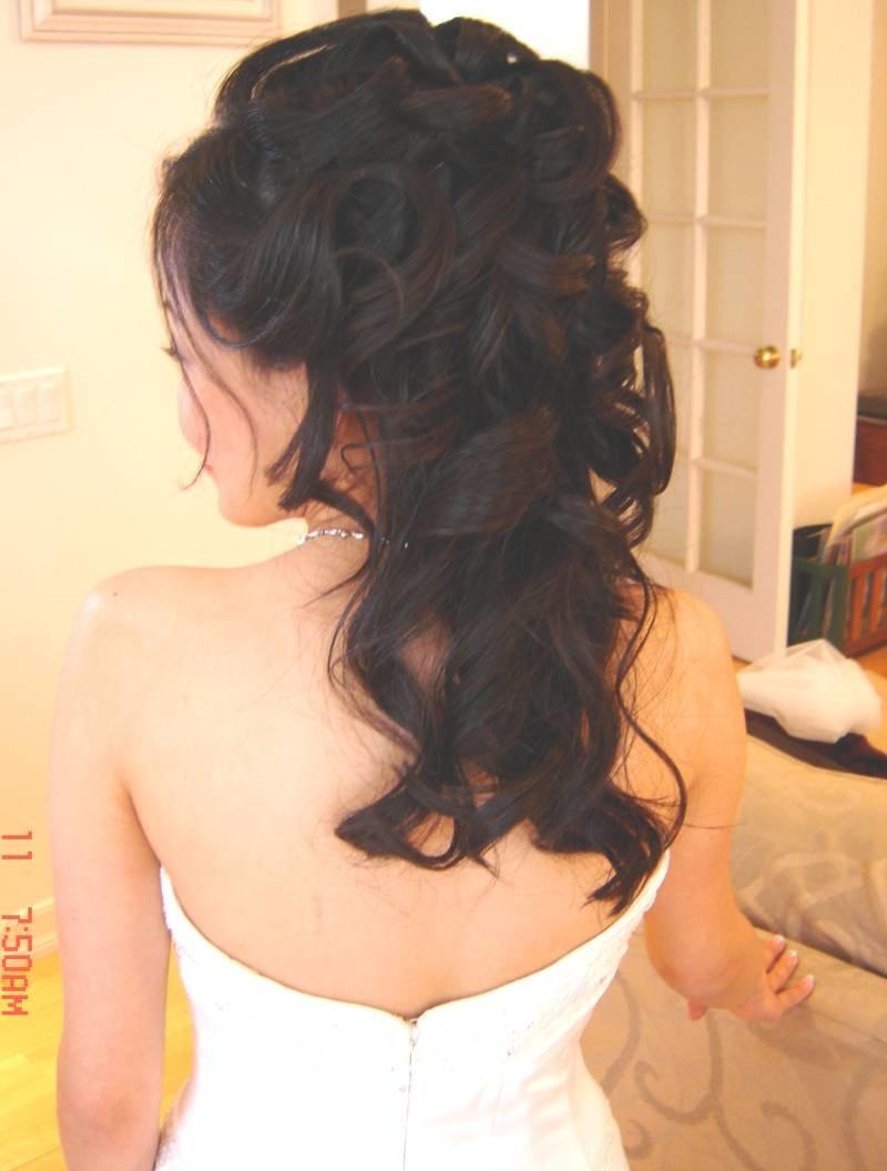 Фото свадебной прически со спины