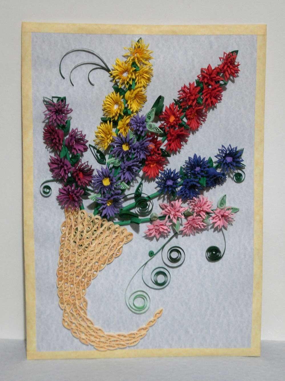 Квиллинг схемы букеты цветов