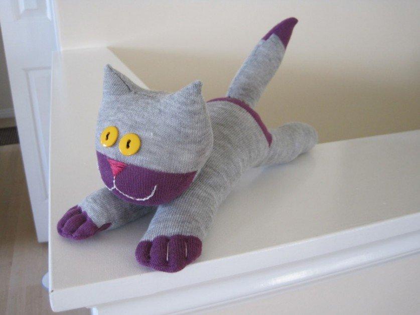 Игрушка из носка своими руками котёнок 61