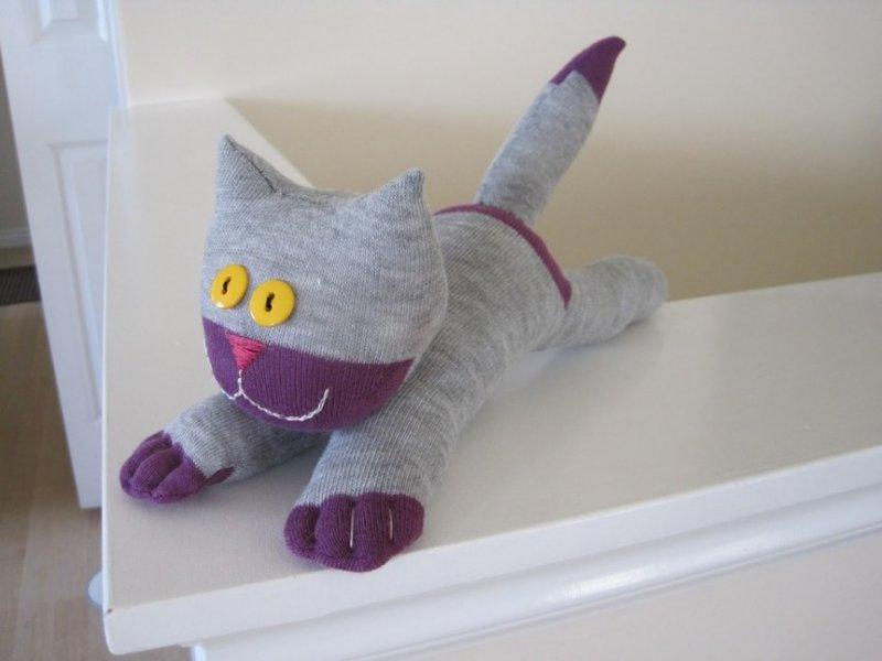 Игрушка кошки своими руками пошагово