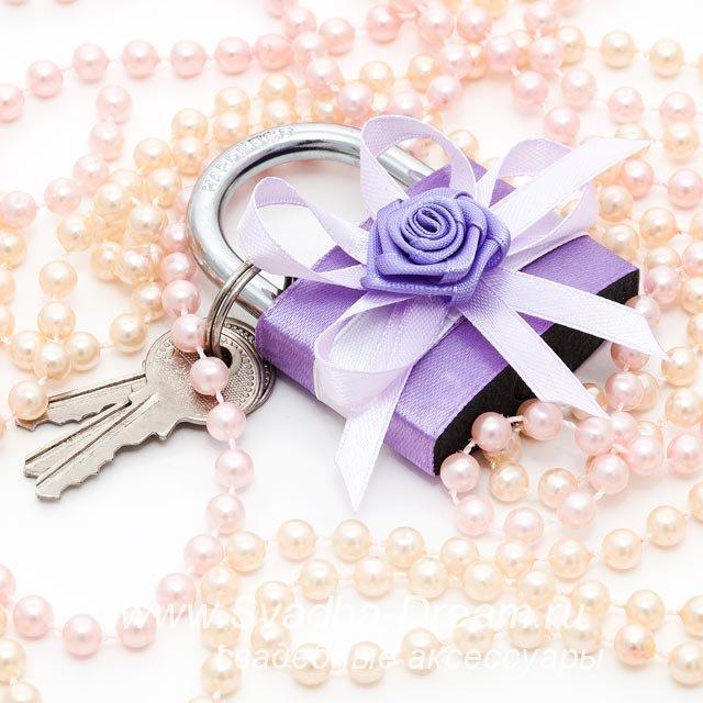 Как украсить замочек на свадьбу своими руками