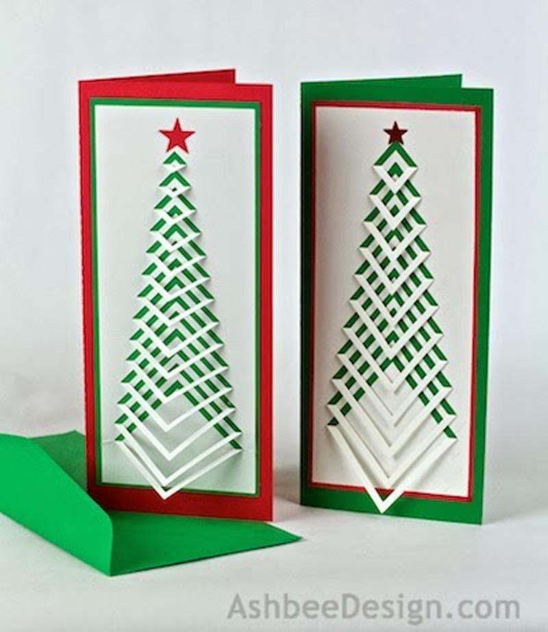 Как сделать новогоднюю открытку из картона и цветной бумаги