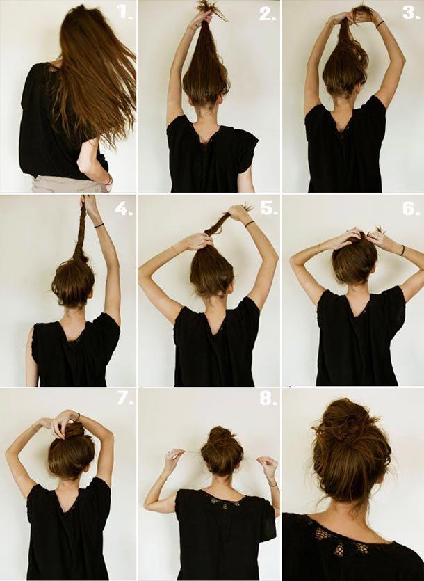 Легкие прически на средние волосы в домашних условиях фото поэтапное