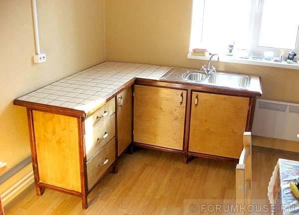 Делаем кухню на даче своими руками 30