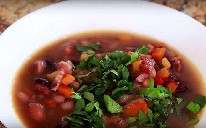 Как приготовить фасолевый суп пошаговый рецепт с фото
