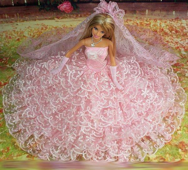 Как сшить свадебное платье для куклы барби своими руками
