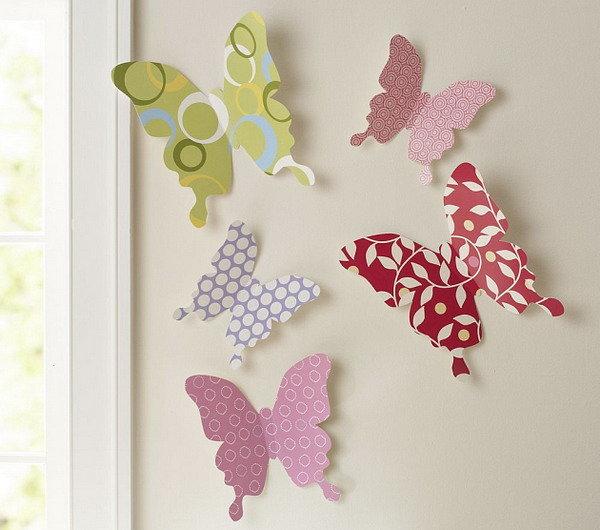 Бабочки из ткани на стену своими руками