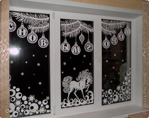 Как сделать новогоднее украшение на окна своими руками