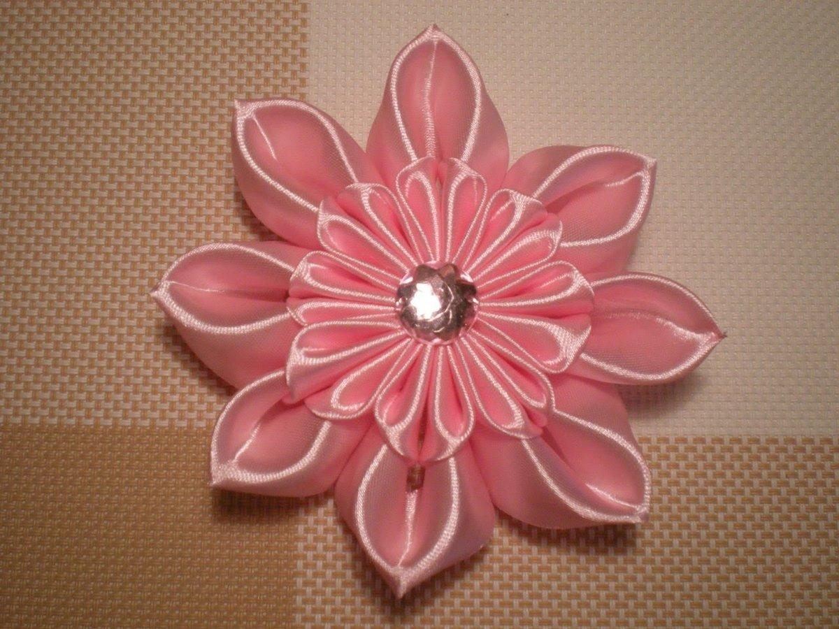 Цветы из атласных лент своими руками канзаши мк
