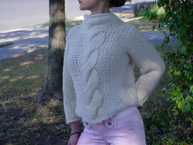 Вязание кофты для девочки из мохера