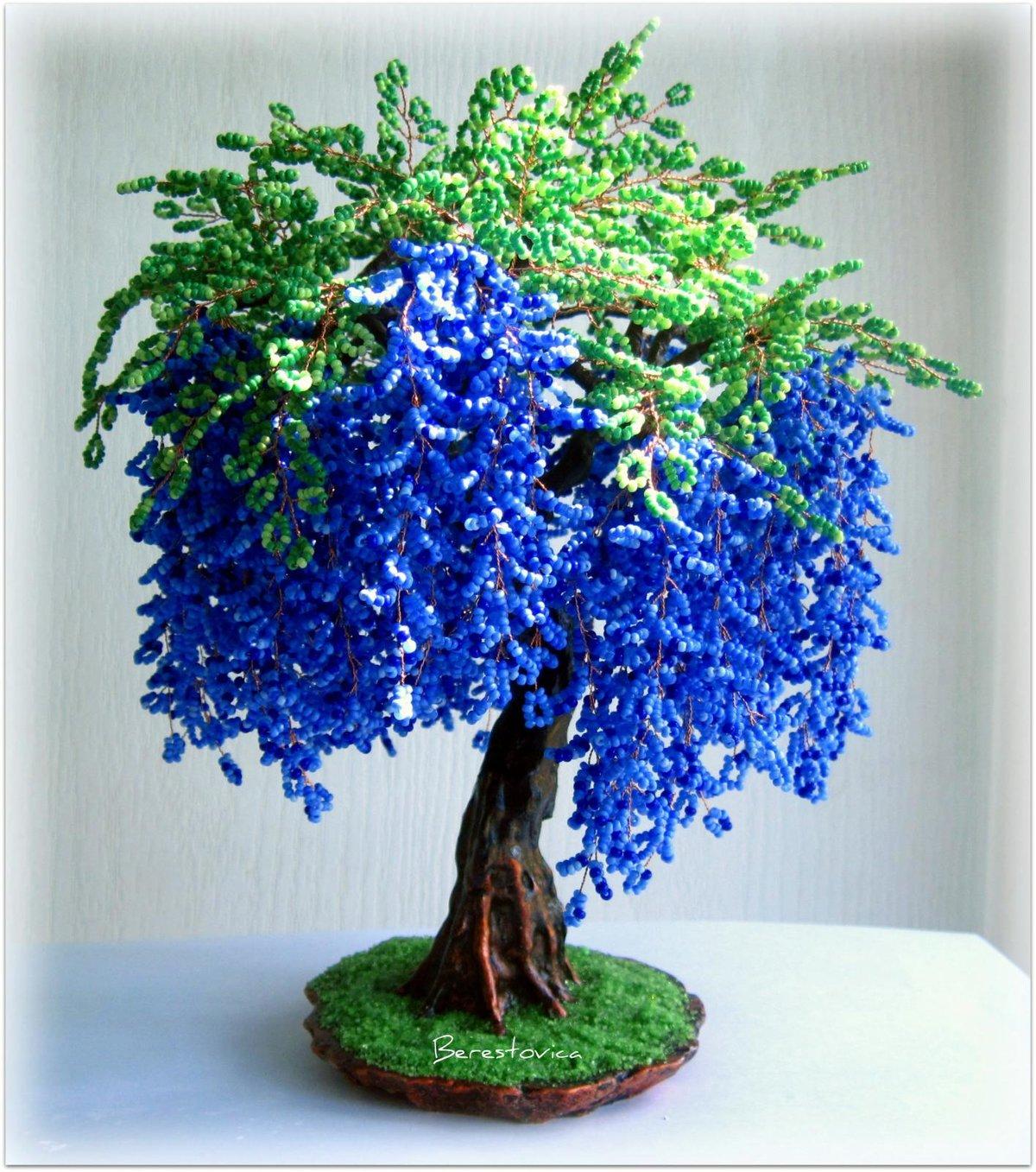 Как сделать из бисера деревья или цветы