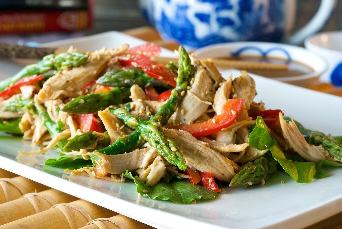 Как из спаржи сделать салат 486