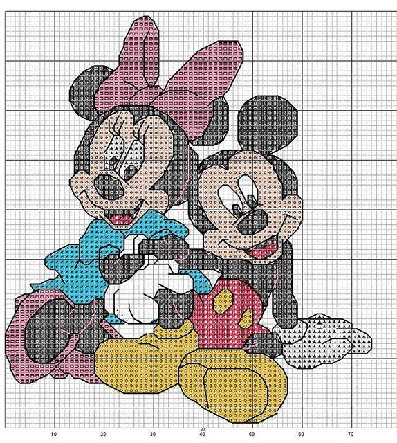 Схемы для вышивки микки маус 20