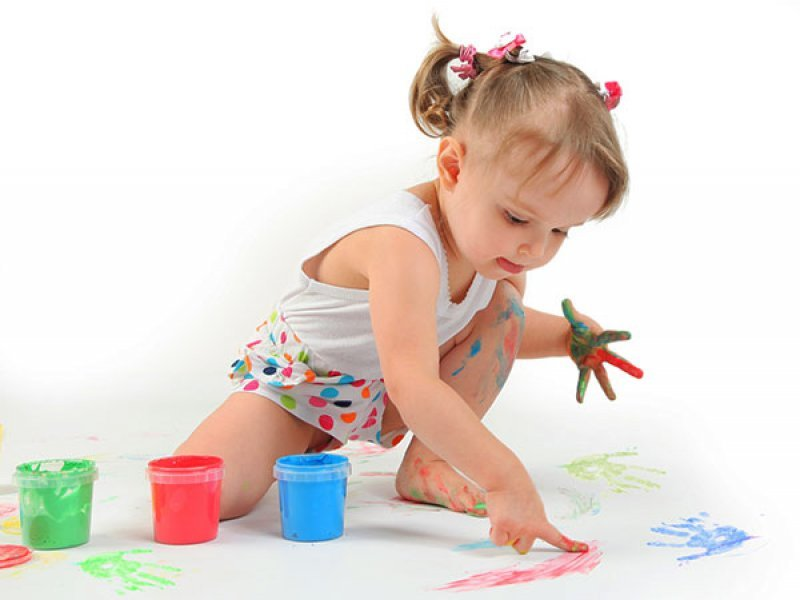Когда можно начинать рисовать пальчиковыми красками