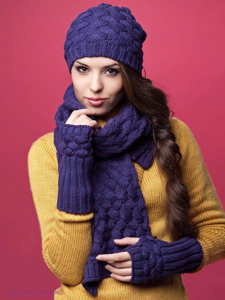 Шапка и шарф снуд связать своими руками 28