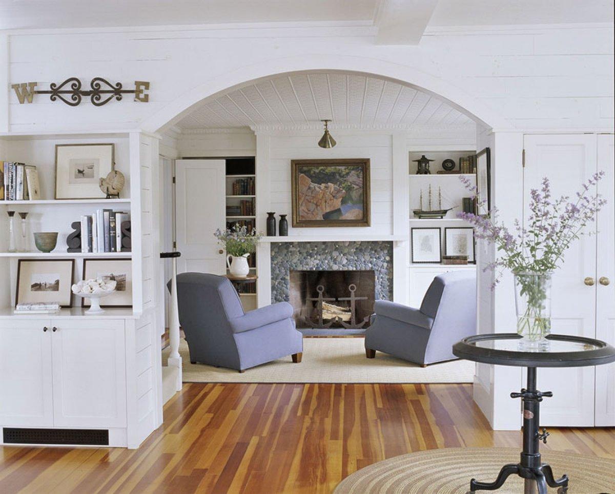 Камины в стиле прованс в интерьере гостиной фото