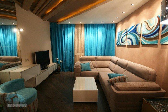 Дизайн квадратной маленькой комнаты
