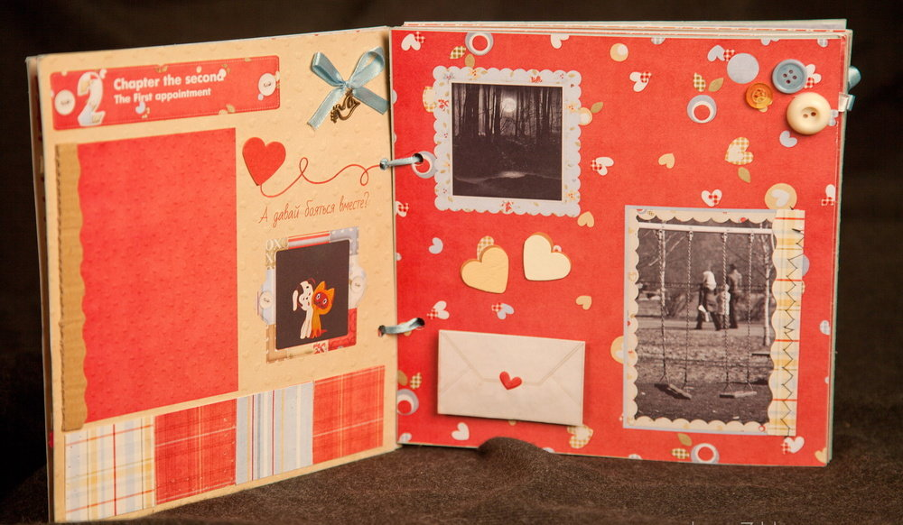 Как сделать романтический альбом влюбленных