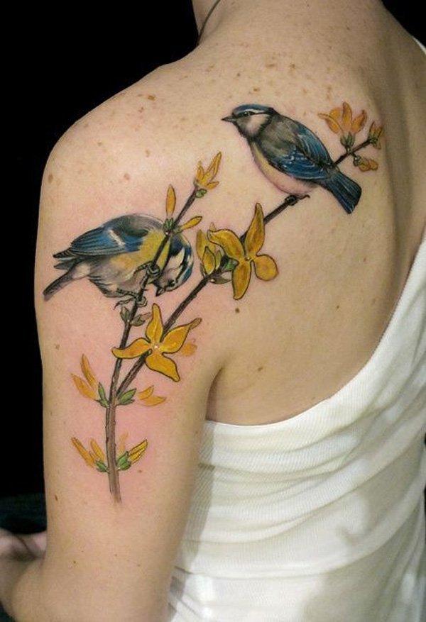 Женские тату с птицами